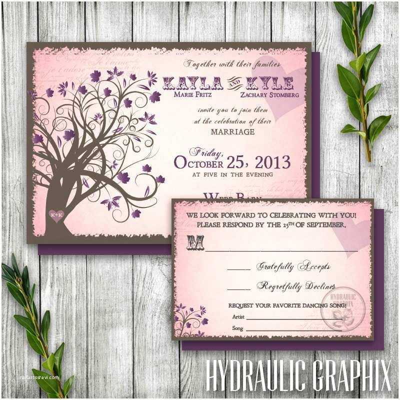 Enchanted Wedding Invitations Enchanted forest Fall Invitation and Rsvp Printable Wedding