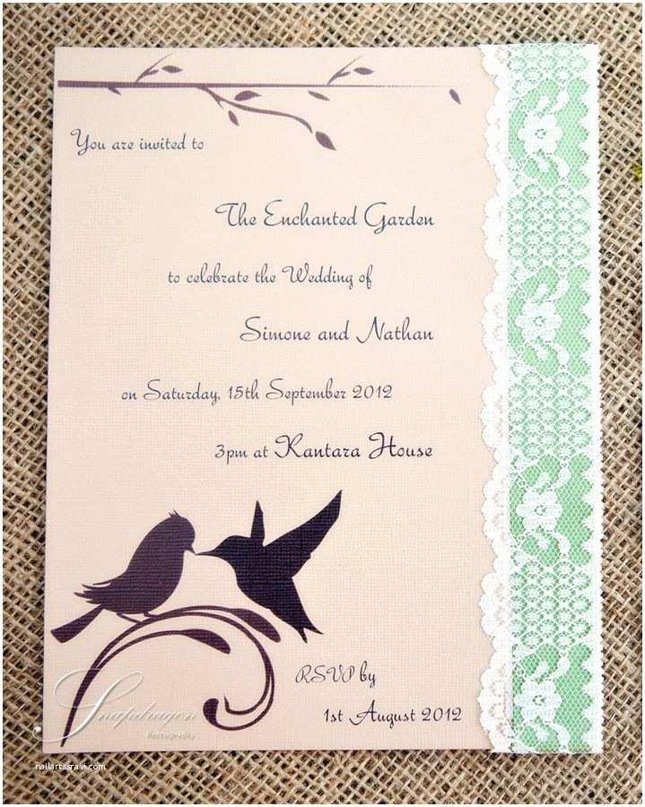 Enchanted Wedding Invitations Enchanted Garden Wedding Invitation Invitaciones