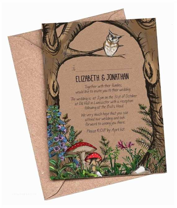 Enchanted Wedding Invitations Enchanted Wedding Invitations