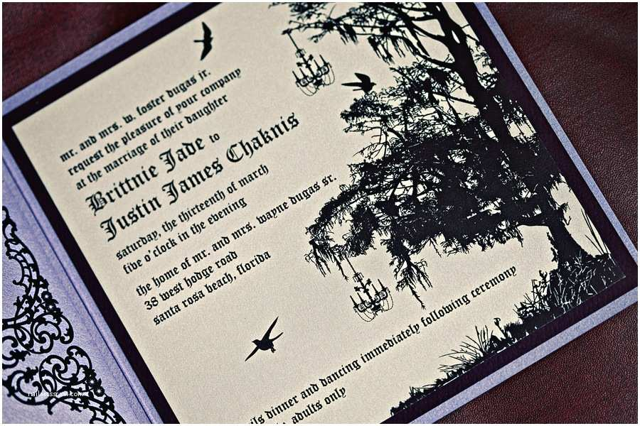 "Enchanted Wedding Invitations ""enchanted forest"" Elegant Wedding"