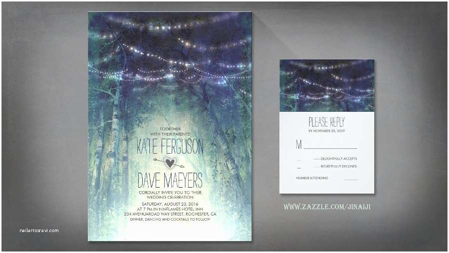 Enchanted Wedding Invitations Read More – Enchanted forest – String Of Lights Wedding