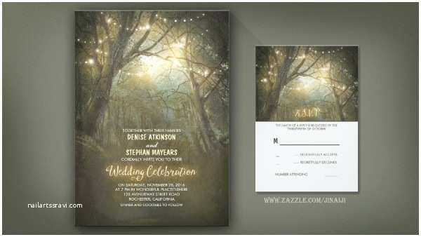 Enchanted Wedding Invitations Rustic Wedding