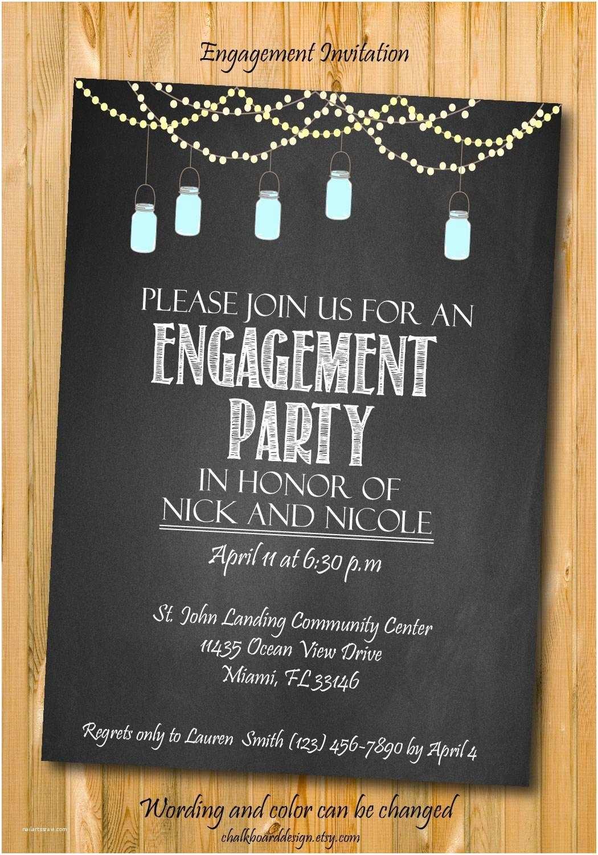 Engagement Party Invitation Engagement Invitation Engagement Party Invitation Custom