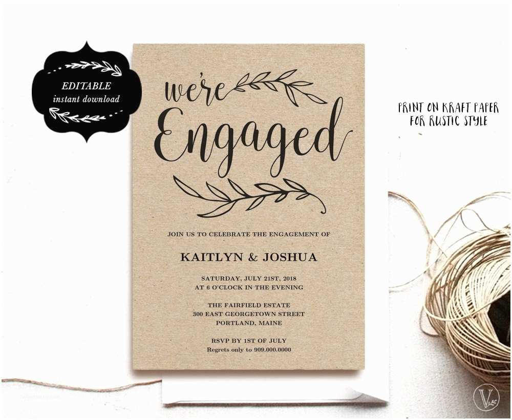 Engagement Party Invitation Engagement Invitation Template Printable Engagement Party