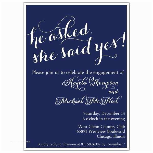 Engagement Party Invitation She Said Yes Engagement Party Invitations