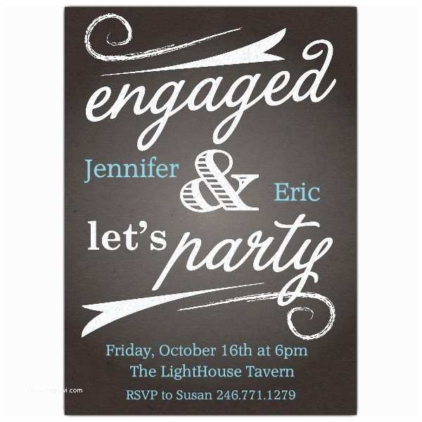 Engagement Party Invitation Wording Chalk Board Bliss Engagement Invitations