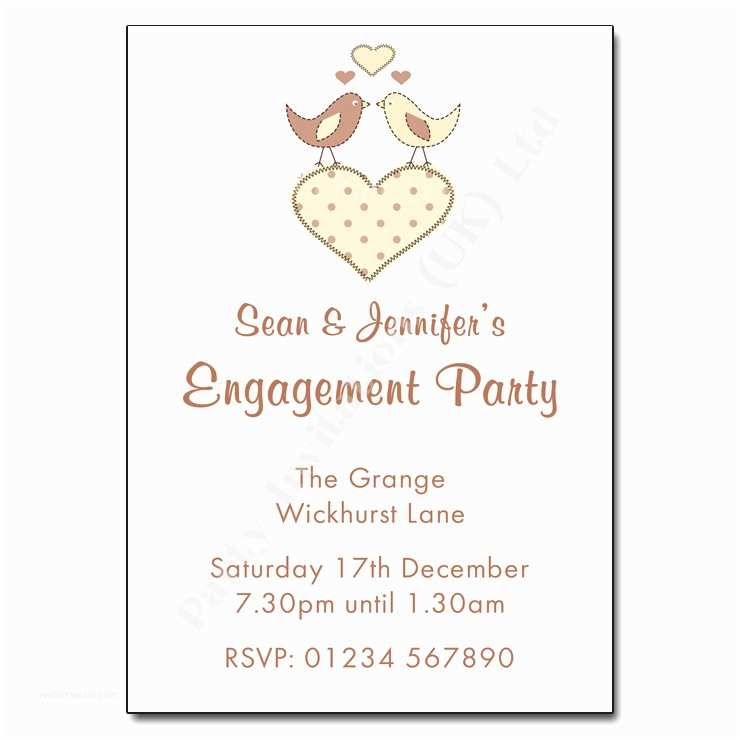 Engagement Party Invitation Wording Love Birds Engagement Party Invitation