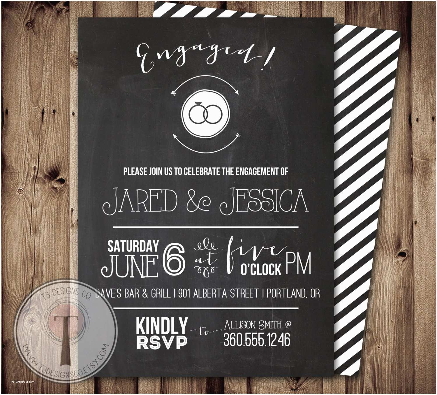 Engagement Party Invitations Etsy Chalkboard Engagement Party Invitation Engagement Party