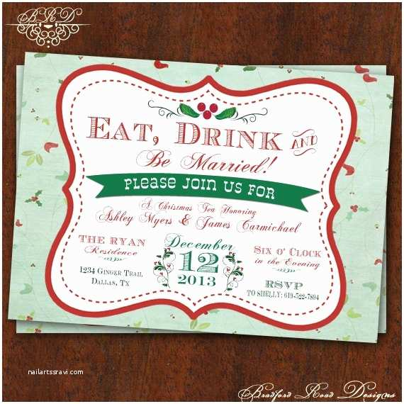 Engagement Party Invitations Etsy Christmas themed Engagement Party Invitation –