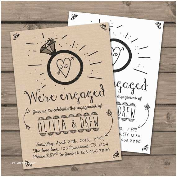 Engagement Party Invitations Etsy Engagement Party Invitation Engagement Party Invite Engagement