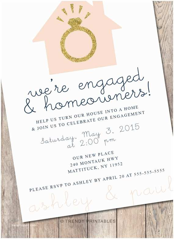 Engagement Party Invitations Etsy Engagement Party Invitation Housewarming Party by