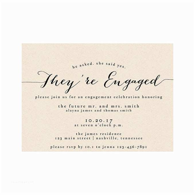 Engagement Party Invitations formal Elegant Engagement Party Invite