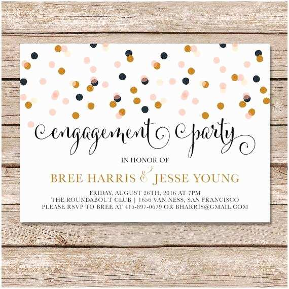 Engagement Party Invitations Modern Engagement Party Invitation Engagement Party