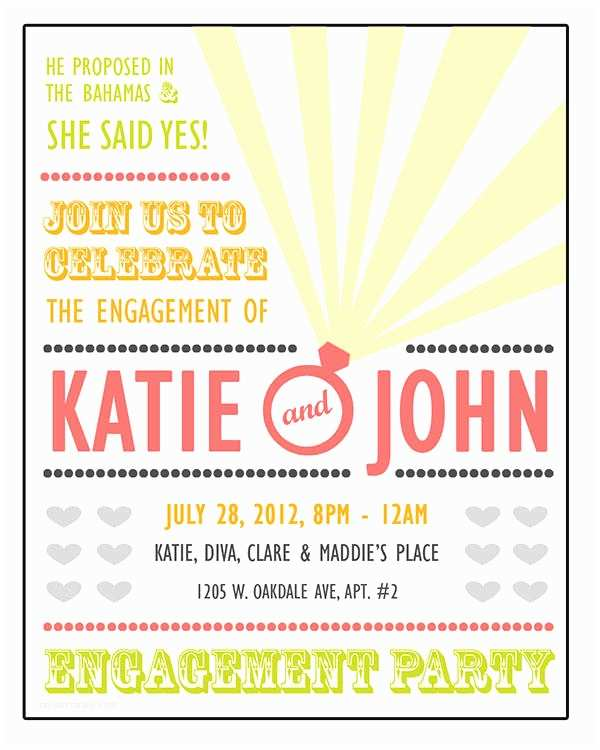 Engagement Party Invitations Templates 40 Printable Engagement Invitations Templates