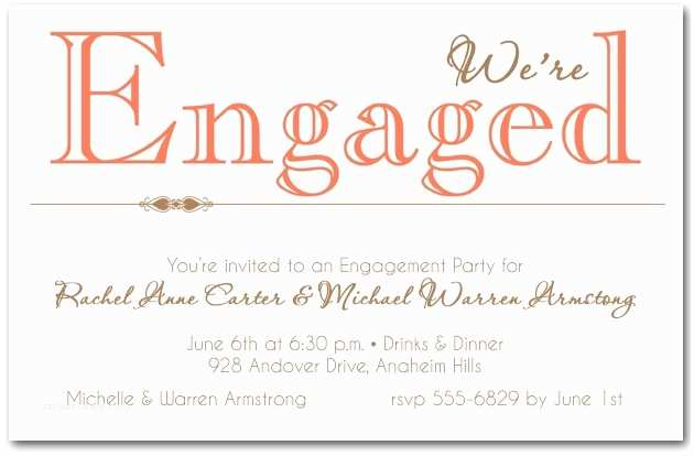 Engagement Party Invitations Templates Casual Engagement Party Invitation Wording Cobypic