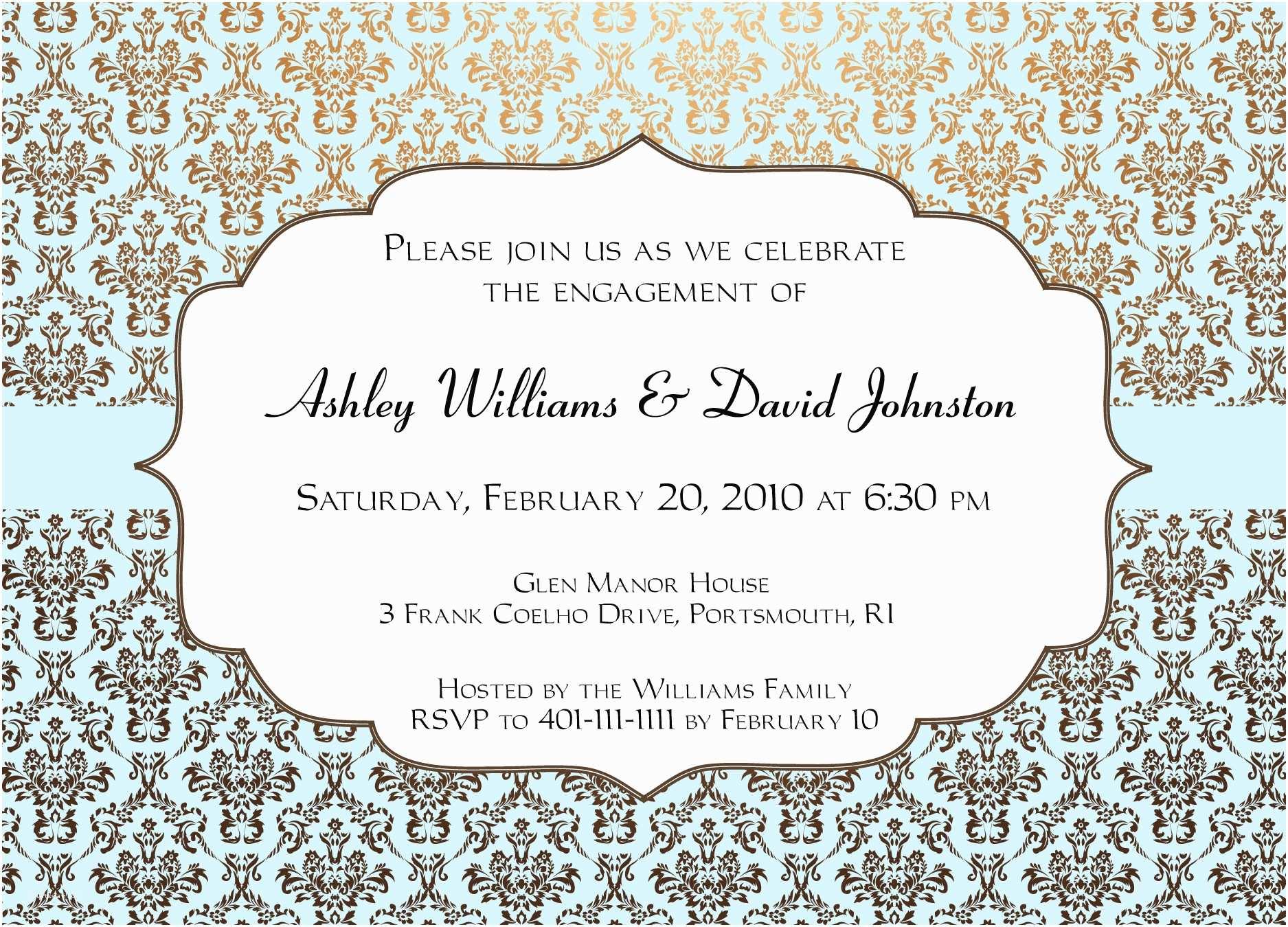 Engagement Party Invitations Templates Engagement Invitation Design