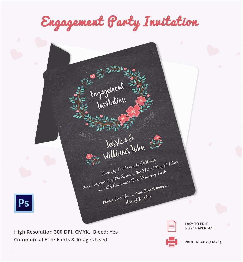 engagement invitation template