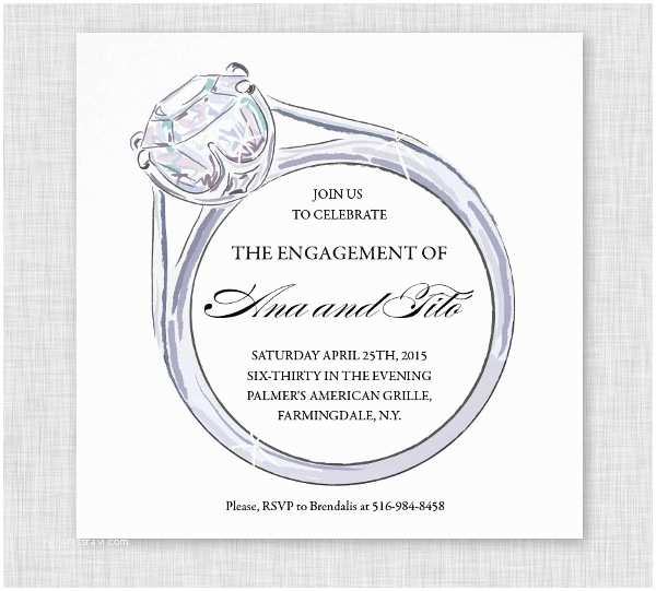 Engagement Party Invitations Templates Engagement Party Invitation 11 Design Template Sample