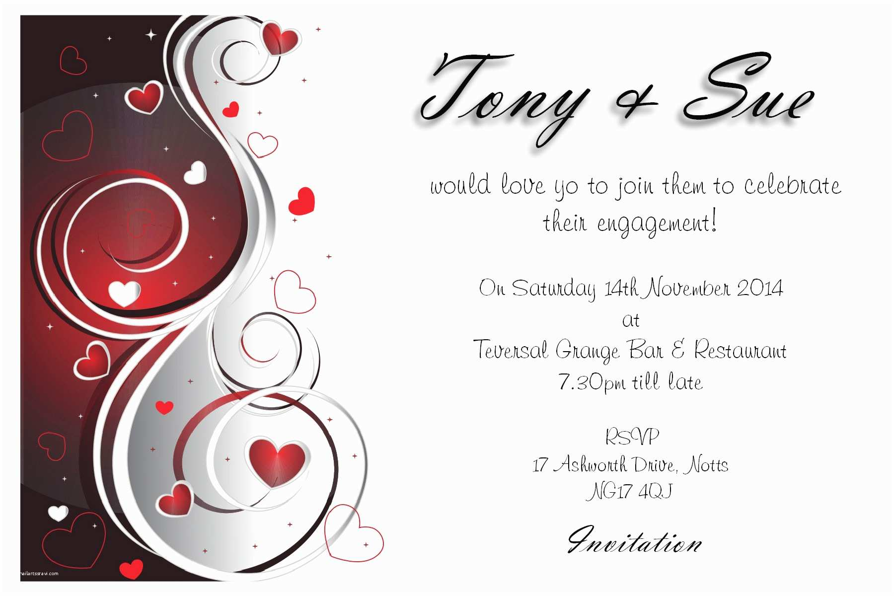 Engagement Party Invitations Templates Engagement Party Invitation Idea