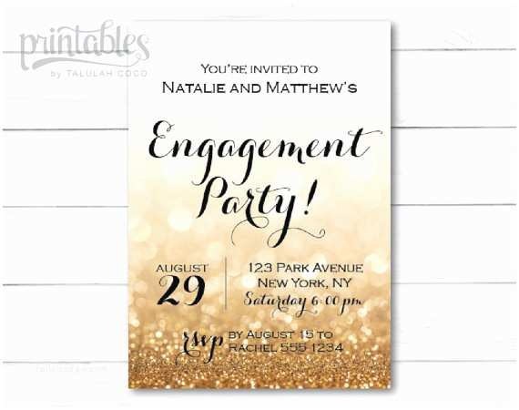 Engagement Party Invitations Templates Engagement Party Invitation Printable Black and by