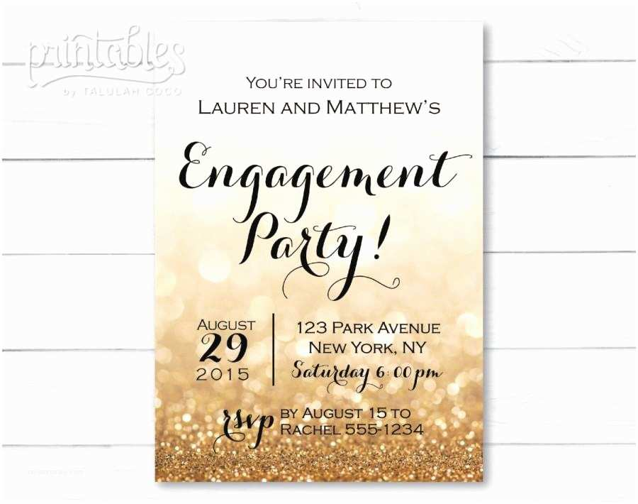 Engagement Party Invitations Templates Engagement Party Invitation Printable Black and Gold
