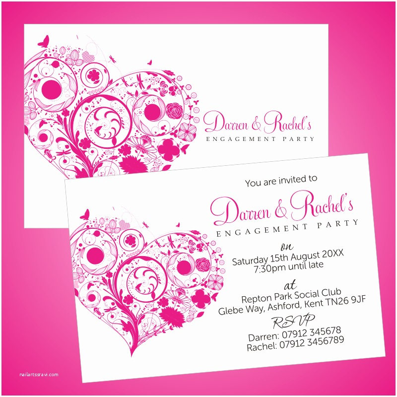Engagement Party Invitations Templates Personalised Engagement Invitations Template