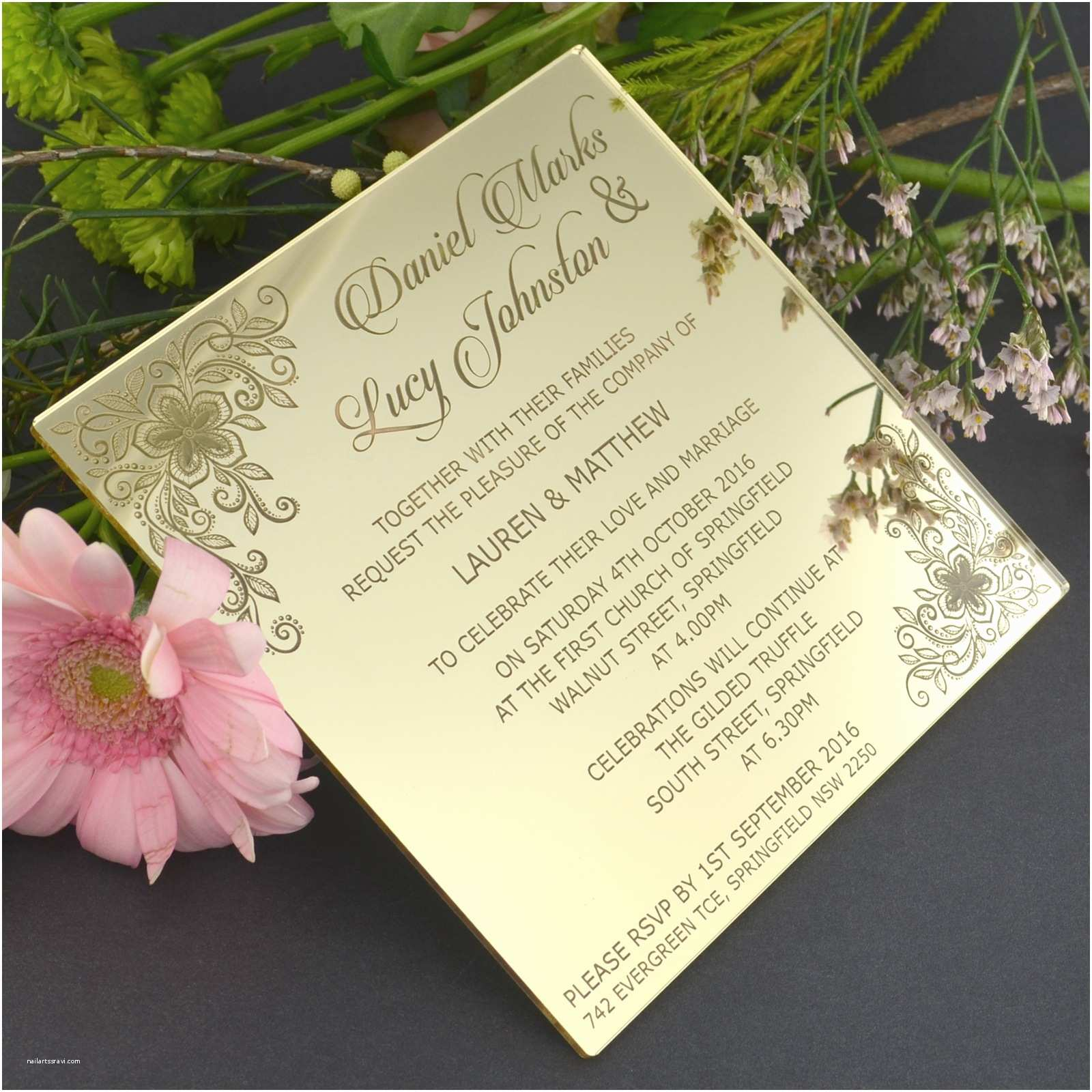 Engraved Wedding Invitations C6 Engraved Acrylic Wedding Invitations Engraved Wedding