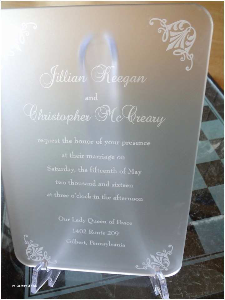 Engraved Wedding S Cost 5x7 Engraved Frosted Acrylic