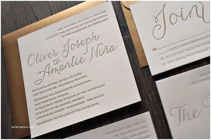 Engraved Wedding  Cost Affordable Letterpress Wedding