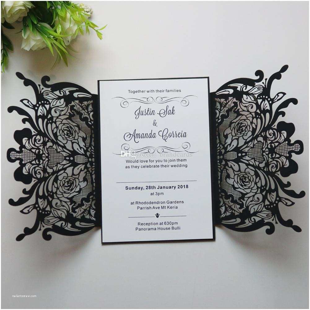 Engraved Wedding Invitations Cost Personalized Engraved Floral Wedding Invitations Cards