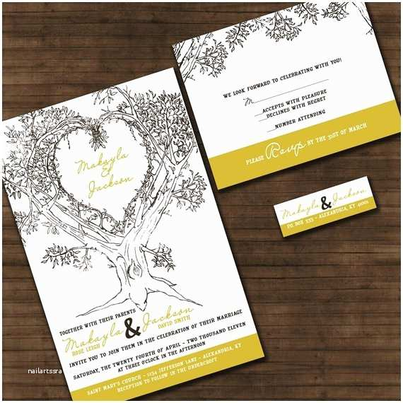 Engraved Wedding Invitations Cost Personalized Oak Tree Wedding Invitation By