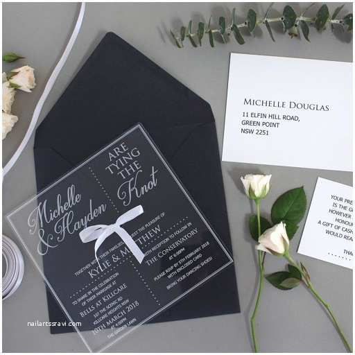Engraved Wedding Invitations Limited Edition Engraved Square Clear Acrylic Wedding