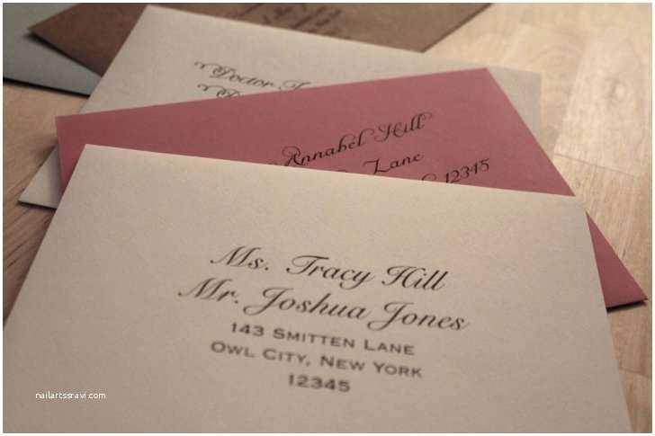 Envelope Etiquette for Wedding Invitations Exceptional Wedding Invitation Envelope Etiquette which