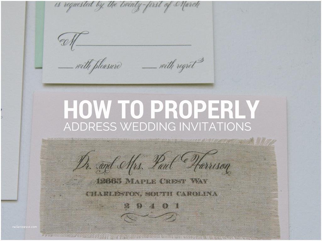 Envelope Etiquette for Wedding Invitations How Do You Address Wedding Invitation Envelopes Picture