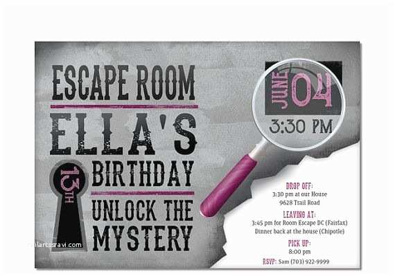 Escape Room Party Invitation 17 Best Images About Escape Room Party On Pinterest