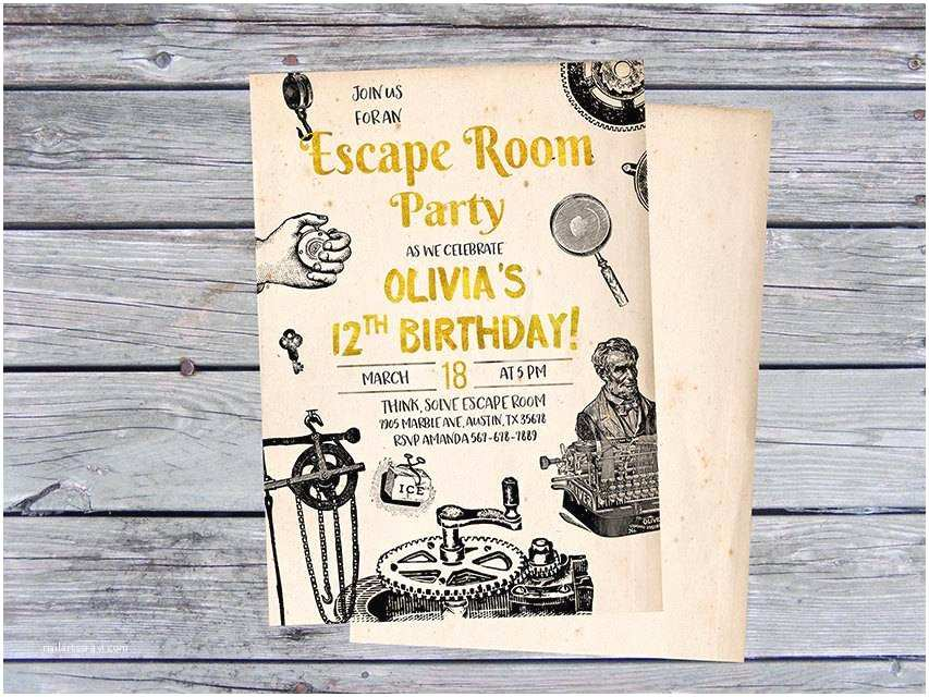 Escape Room Party Invitation 25 Ideas to Throw An Exciting Escape Room Party at Home
