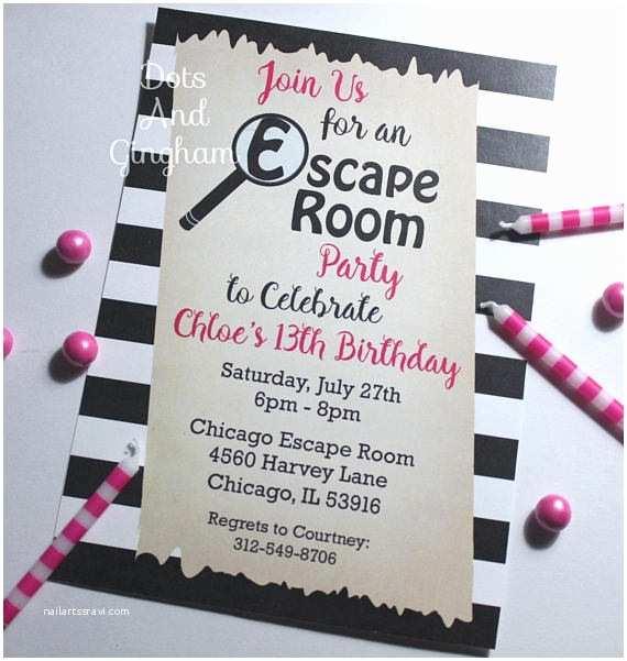 Escape Room Party Invitation Escape Room Invitation Escape Room Party Scavenger