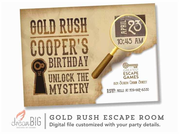 Escape Room Party  Escape Room Invite Boys Or Girls Birthday