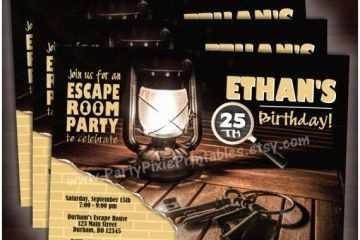picture regarding Printable Escape Room referred to as Escape Area Bash Invitation Escape Space Social gathering Invites 5