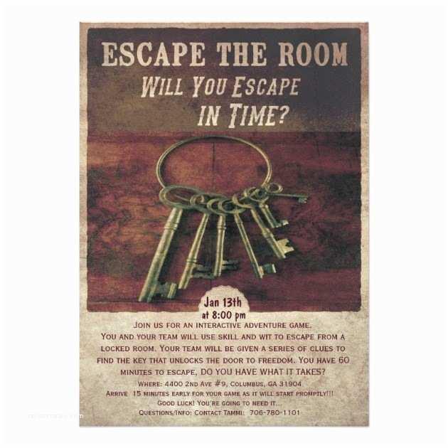 """Escape Room Party Invitation How to Escape Those """"escape the Room"""" Escape Games"""