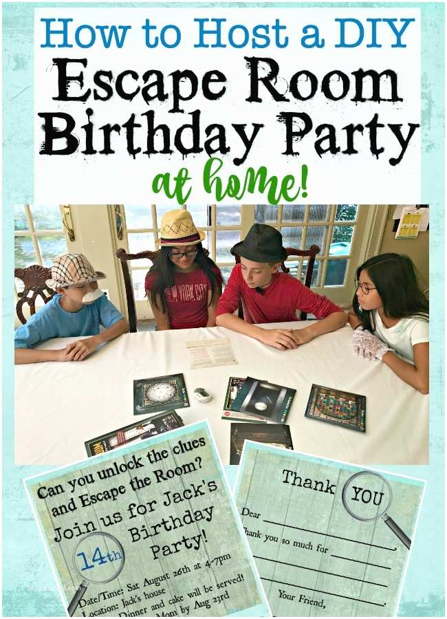 Escape Room Party Invitation How to Throw An Escape Room Birthday Party at Home Mom 6