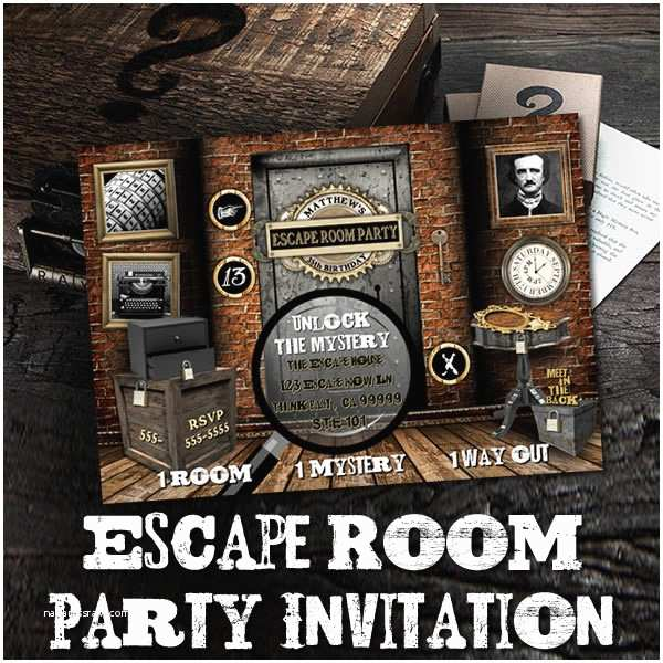 Escape Room Party Invitation the Printable Occasion Party Printables