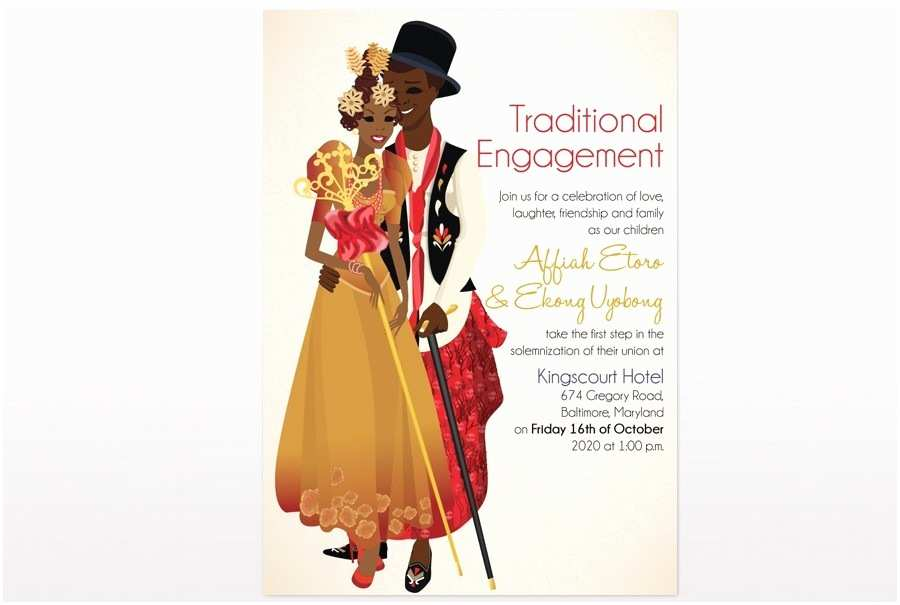 Ethiopian Traditional Wedding Invitation Cards African Traditional Wedding Invitations Efik Traditional