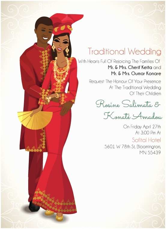 Ethiopian Traditional Wedding Invitation Cards Gambian Traditional Wedding Invitation Card