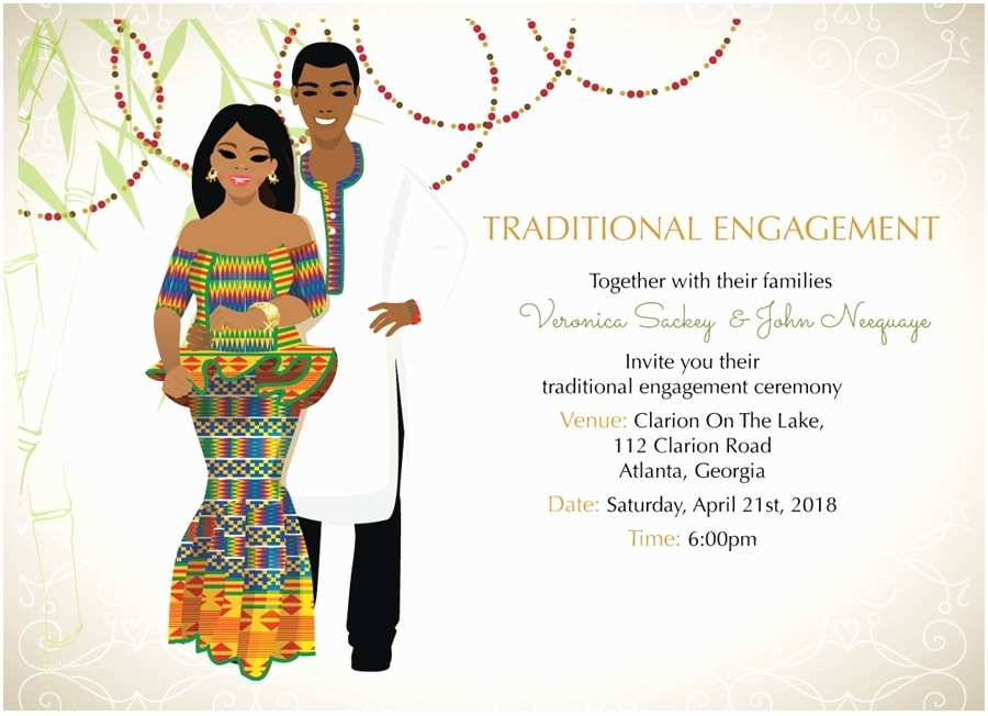 Ethiopian Traditional Wedding Invitation Cards Ghana Traditional Wedding Invitation Card