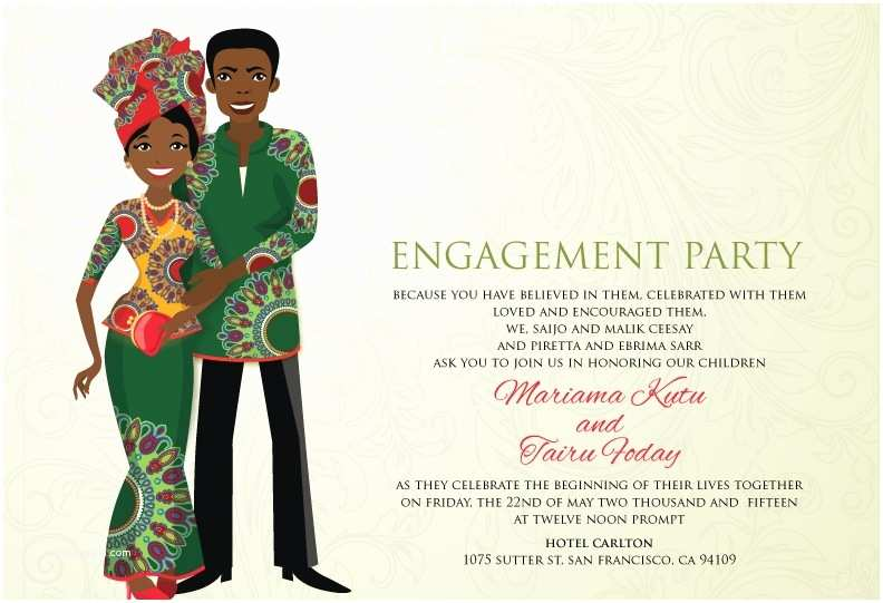 Ethiopian Traditional Wedding Invitation Cards Liberian Traditional Wedding Invitation Card