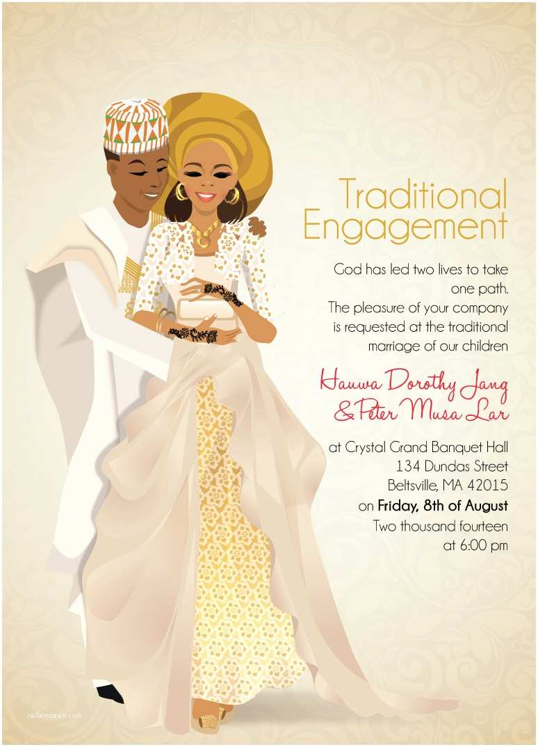 Ethiopian Traditional Wedding Invitation Cards Nigerian Traditional Wedding Invitation Card