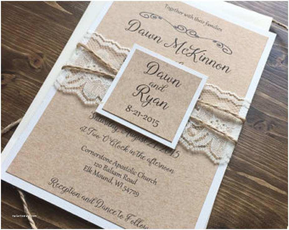 Etsy Diy Wedding Invitations 34 Collection Etsy Rustic Wedding Invitations Innovative