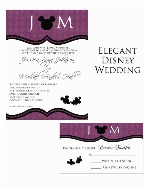 Etsy Diy Wedding Invitations Elegant Disney Castle Diy Printable Wedding by