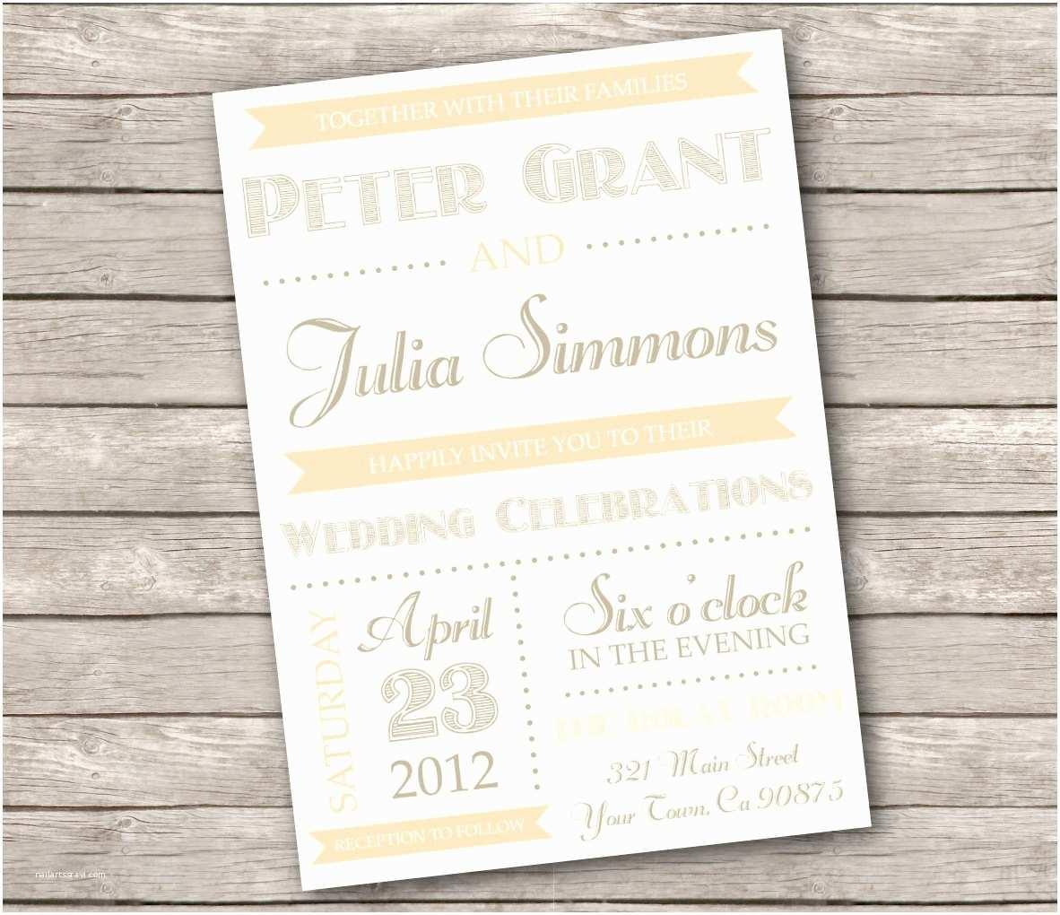 Etsy Diy Wedding Invitations Etsy Rustic Wedding Invitations Various Invitation Card
